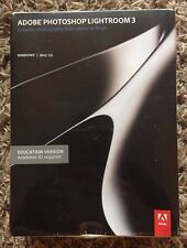 Brand New! Adobe Photoshop Lightroom 3 Education Version! Photo & Video Editing!