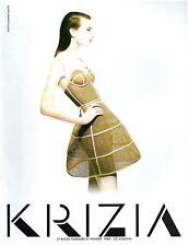 ▬► PUBLICITE ADVERTISING AD KRIZIA Photo Giovanni Gastel 1992