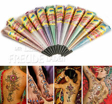 12x Golecha Glitter Cone - 6 Colors - Multicolour á 25g for Mehndi Tatoo - 300g
