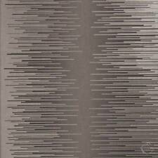 Wallpaper Warm Pewter Gray Silver Metallic Modern Abstract Graphic Stripe