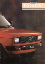 FIAT FIORINO VAN 1987-88 UK Opuscolo Vendite sul Mercato PIEGA 127