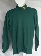 NWT MLB MAJESTIC TURTLENECK SHIRT - OAKLAND ATHLETICS - GREEN - LARGE