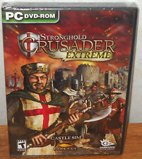 Stronghold Crusader Extreme (PC Games, 2008) NEW SEALED