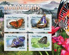 Sao Tome & Principe 2016 MNH Butterflies Asian Fauna 4v M/S Insects Stamps