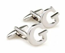 Quality Cufflinks Letter G Cuff links silver Colour Letters Name French Shirt