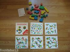 WOODEN BLOCKS Construction Game 20 Blocks, 5 cards JOCDI GOULA Building Toy Set