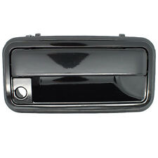 Outside Door Handle - Front Right Passenger Exterior - Shiny Black Metal