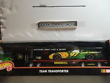 Hot Wheels Pro Racing John Deere Team Transporter Semi Rig w/Rubber Wheels