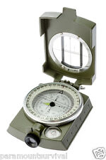 Military Prismatic Sighting Compass W/ Pouch & Lanyard Hunting and Survival Kits