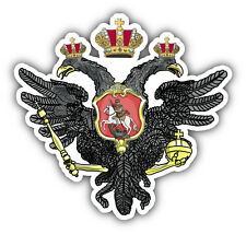 "Coat Of Arms Russian Double Headed Eagle Car Bumper Sticker Decal 5"" x 5"""
