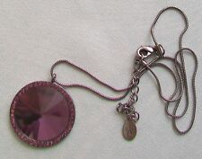 ACCESSORIZE PURPLE PENDANT & CHAIN NECKLACE