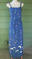 MALIA Honolulu Hawaii DAISY SUNDRESS DRESS with Built-in Bra VINTAGE Med Signed
