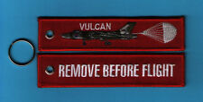 Vulcan (chute) Remove Before Flight embroidered Key Ring/Tag - New