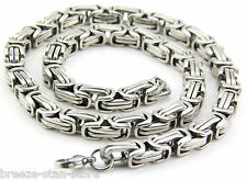 hot 316L Men's Stainless Steel Necklace Titanium Necklace Chain 7.5mmx8mm 55cm
