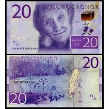 Sweden - 20 krona - UNC currency note - 2015 issue