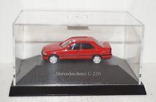 Herpa Mercedes-Benz C 220 rot Werbemodell 1:87 in PC-Box