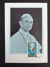 SPAIN MK 1965 PAPST PAUL VI POPE PAPA PAPIEZ MAXIMUMKARTE MAXIMUM CARD MC c5111