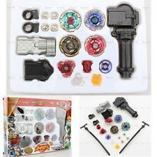 Beyblades Metal Fusion Toy Set Fight Battle Rotate Rapidity Master With Launcher
