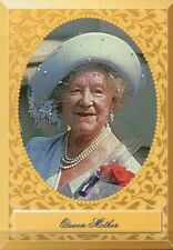 The Queen Mother, Mum, Hat, Pearls --- Royal Family Trading Card, Not a Postcard