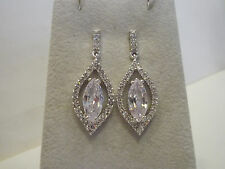 Nolan Miller White Hot Drop Simulated Diamond Earrings 1-1/2""