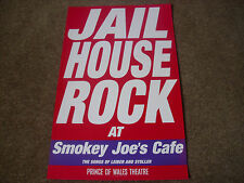 JAIL HOUSE ROCK  at Smokey Joe's Cafe  PRINCE of WALES  Theatre Original Poster
