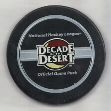 Phoenix Coyotes Decade In The Desert Official Game Puck In Glas Co Bettman