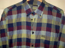 MISSONI SPORT ITALY EMBROIDERED LOGO TEXTURED COTTON SHIRT-LOGO BUTTONS-NWOT- L