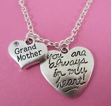 "Grandmother You Are Always In My Heart Hearts 18"" Necklace New in Gift Bag"