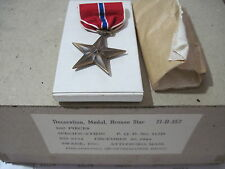 US WW2 BRONZE STAR Medal Slot Brooch by Swank Inc Dec. 30, 1944 boxed original