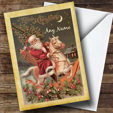 Traditional Vintage Santa Personalised Christmas Card