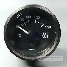 VDO TEMPERATUR ANZEIGER OEL 150 °  INSTRUMENT OIL GAUGE 12V  Classic schwarz
