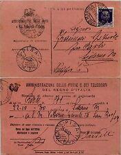 REGNO-50 c Imperiale(251)Ricevuta di ritorno Siderno Marina x Pisa 22.10.1930