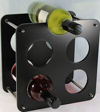 Wine Bottle Rack Free Standing - 5 Bottle Holder Black