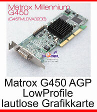 GRAPHIC CARD GRAFIKKARTE MATROX AGP DVI G450 -32 LOW PROFILE G45FMLDVA32DBF -G21