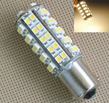 2x BA15S Warm White 68 LEDs SMD 1156 RV Camper Trailer Interior Light Bulbs 12V
