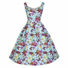NEW VINTAGE 50'S STYLE FAY SUMMER FLOWER ROCKABILLY SWING PARTY DRESS SIZE 16