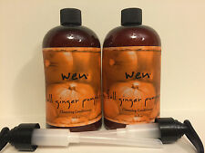 "WEN BY CHAZ DEAN CLEANSING CONDITIONER ""FALL GINGER PUMPKIN"" (16 oz x 2) NEW"