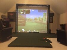 Ultimate Golf/ Home Theater HD Impact Screen Frame 120 x 105 x 14 + side walls