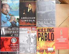 Assassination History, Attempts Killing JFK MLK Sadat Lincoln Escobar Book lot