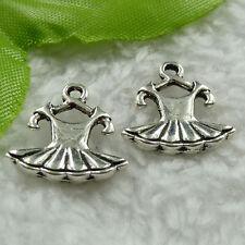 Free Ship 240 pieces tibet silver dress charms 16x15mm #1480