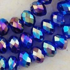 Wholesale!!!! 1000PCS  Crystal Blue AB better Loose Bead 3x4mm