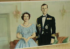 QUEEN ELIZABETH II & DUKE OF EDINBURGH 1947 ENGAGEMENT COMMEMORATIVE TIN TRAY