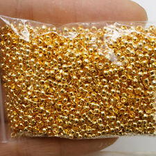 900 Pcs gold tone crimps round findings beads h0280