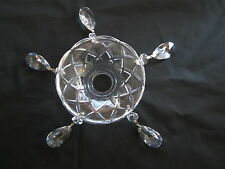 2 LEAD CRYSTAL BOBECHES  WITH  5- 1 1/2 INCH PRISMS (S*)