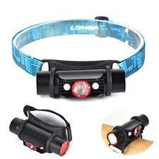 3 in 1 Rechargeable Q5+2 LED Headlamp Wrist Light USB Power Bank Flaslight Torch
