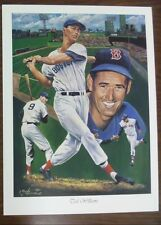 Ted Williams 18x24 Dual Sided Lithograph by Angelo Marino
