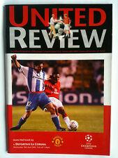 2001/02 Manchester United v Deportivo La Coruna Champions League Q/F 2nd Leg