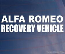 ALFA ROMEO RECOVERY VEHICLE Novelty Car/Window/Bumper Vinyl Sticker/Decal