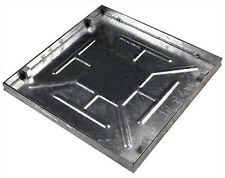 600 x 600 x 43.5mm Sealed & Locking Internal Recessed Manhole Cover :: All Steel