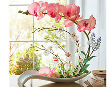 artificial orchid pink pot flower flowers ceramic dish home decor plants garden